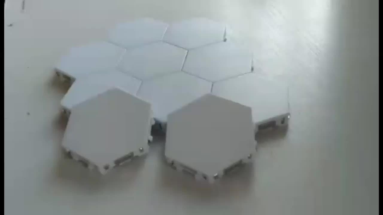 Quantum 램프 Led 육각 모듈 램프 벽 장식 조명 터치 민감한 램프 diy 조합