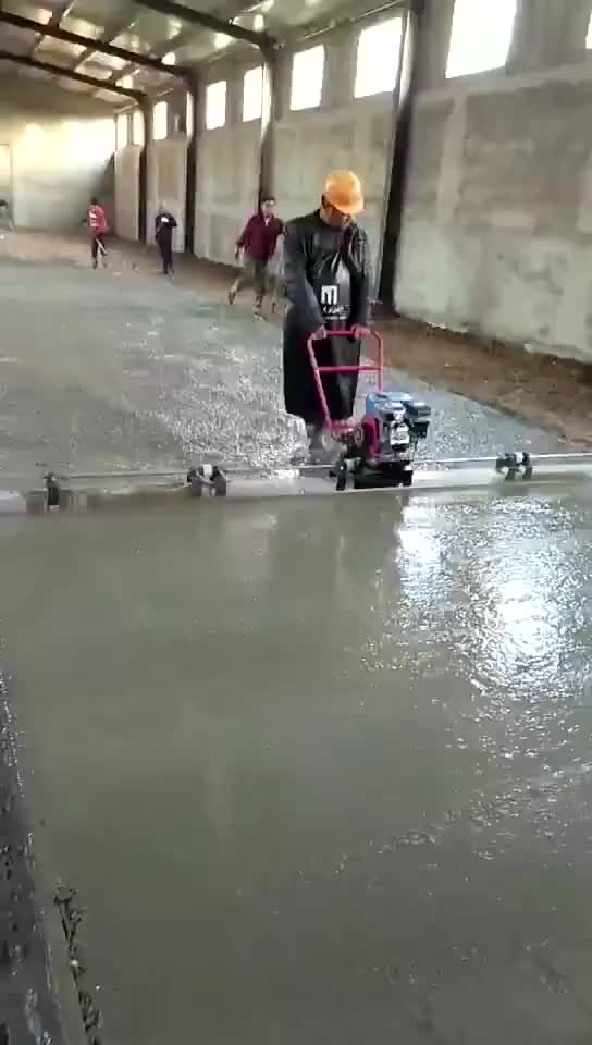 Power Pole Screed Vibrating Bull Float Concrete Cement