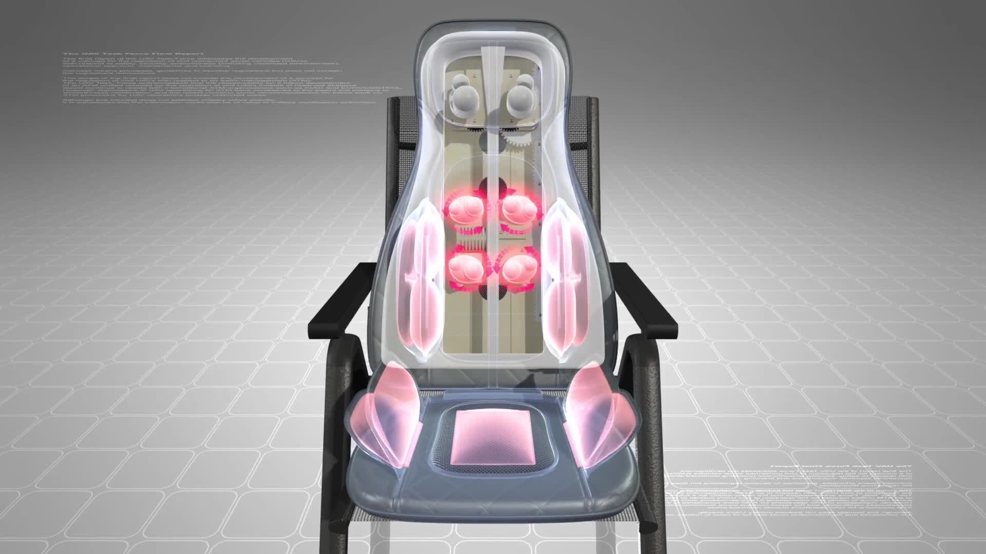 Camion e Auto Driver di compressione dell'aria di vibrazione posteriore glutei sedia cuscino del sedile di massaggio con il calore