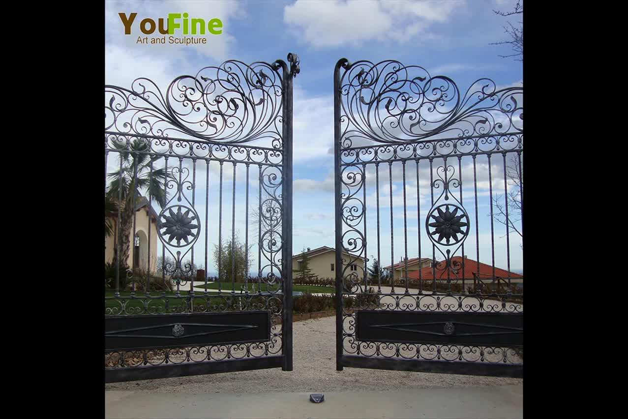 Alta calidad jardín valla de hierro