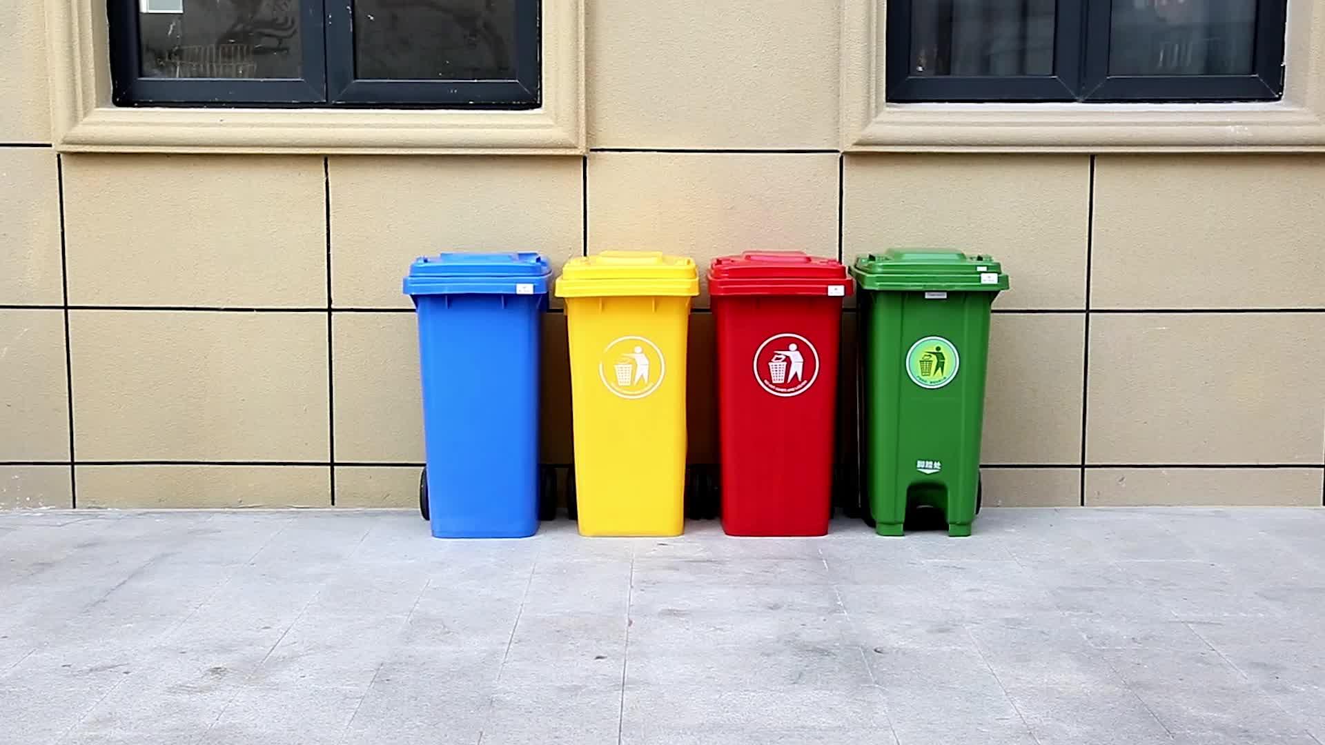 Promotional Plastic Wheelie Outdoor 240 Liter Waste Bin