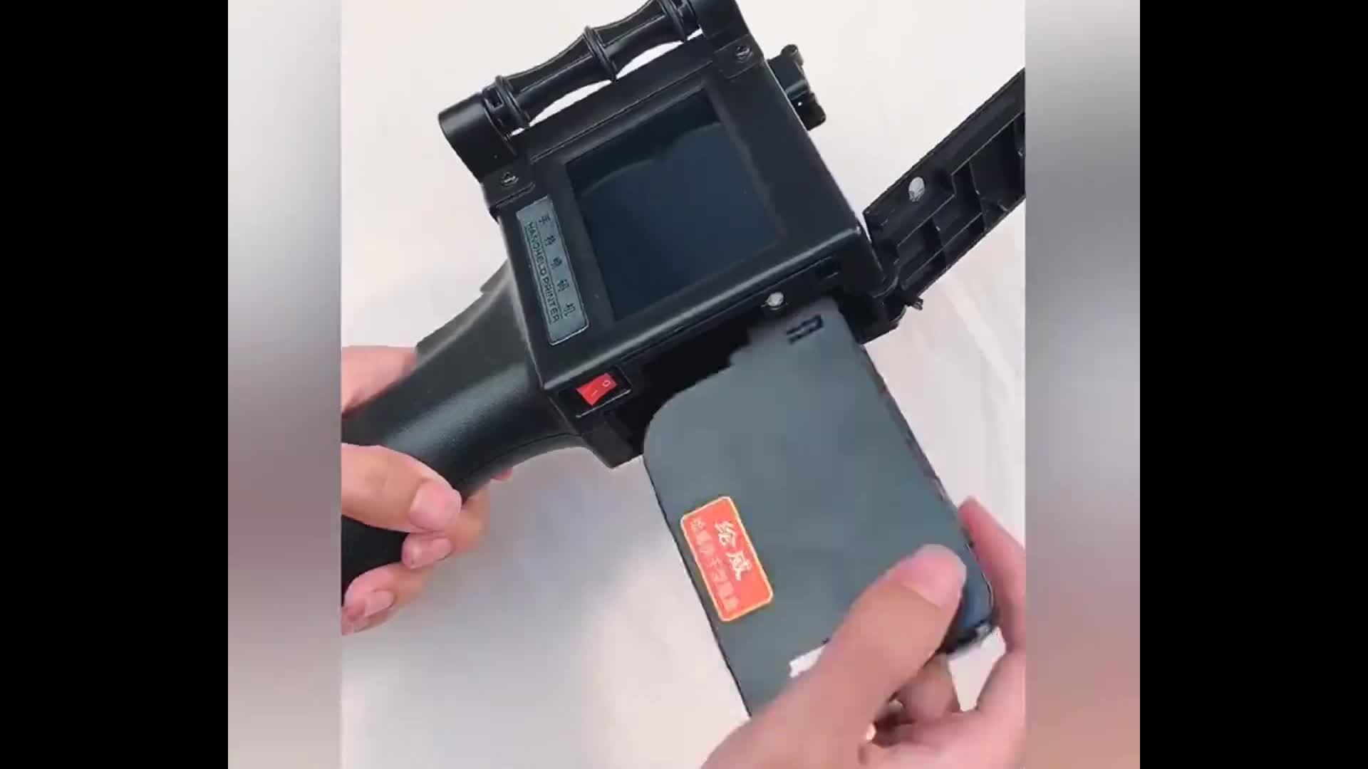 Digital laser industrial portable hand inkjet printer for  expiry date code for fabric ceramic egg wall mural ect