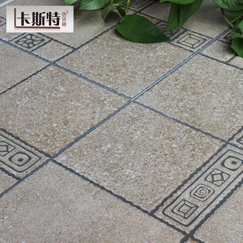 田园花园仿古砖美式乡村庭院阳台瓷砖仿石纹露台客厅广场防滑地砖