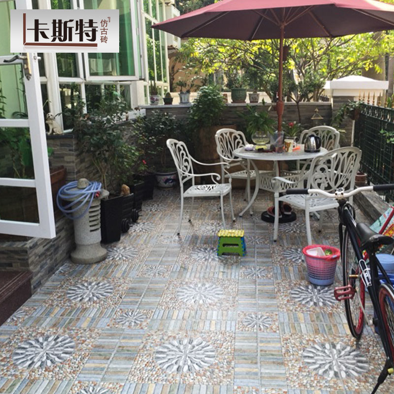 American Country Outdoor Villa Courtyard Tile Terrace Balcony