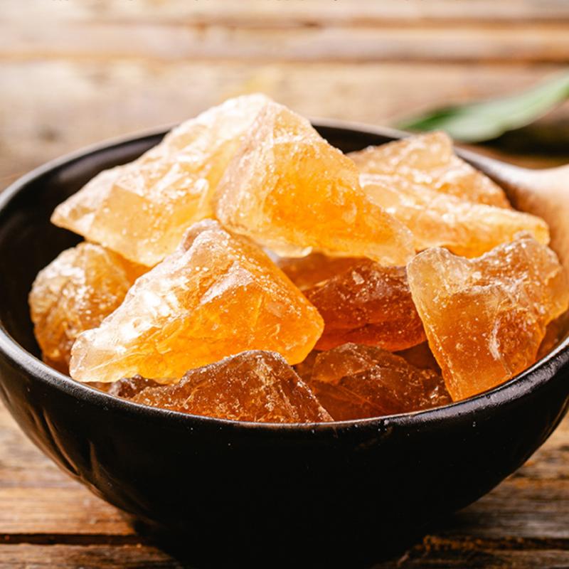 不若水/云南黄冰糖无添加小粒多晶单晶老冰