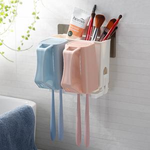 卫生间吸壁式洗漱牙刷置物架