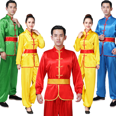 Folk Dance Costumes Yangko suit for men and women waist drum drum performance dragon and Lion Dance Costume Chinese style National Dance Costume