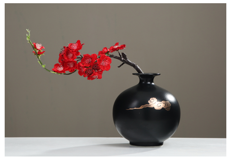 New Chinese style ceramic decoration sitting room porch TV ark, zen the flower vase furnishing articles table flower arranging flowers