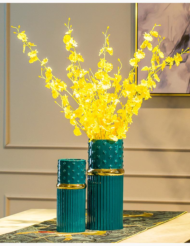 北欧轻奢陶瓷花瓶摆件现代客厅简约创意家居电视柜餐桌插花装饰品