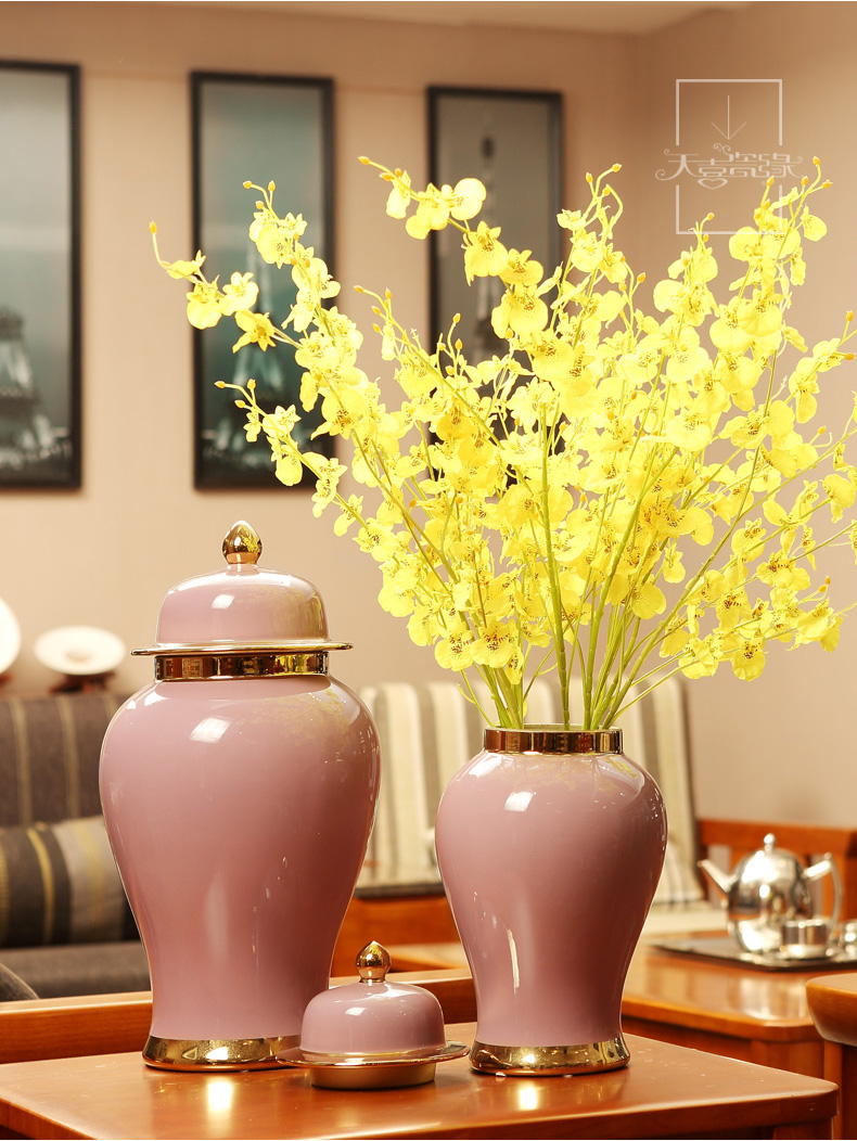 General European ceramic jars of furnishing articles American household living room show originality decorative flower arranging, porch decoration