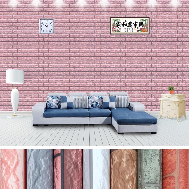 中式复古砖纹红砖青砖仿古砖头墙纸自粘仿真砖块文化石背景墙壁纸
