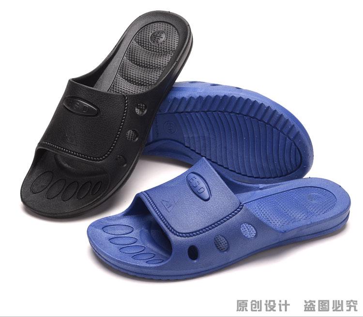 Chống tĩnh điện chống bụi dép dép dép nam màu đen sạch và phụ nữ dép giày mềm đáy bảo vệ sạch sẽ và thoải mái