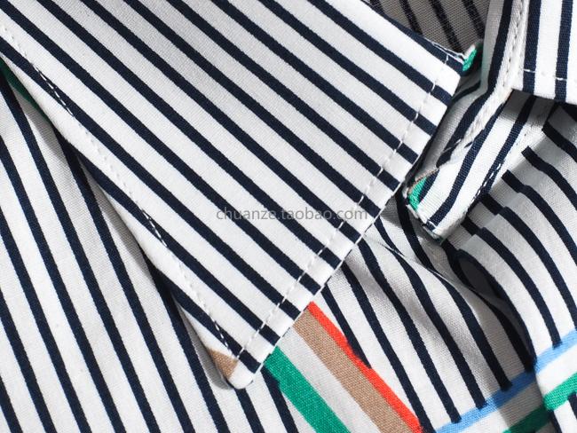 Kawazawa's new bumpy striped long-sleeved cotton shirt men's Korean version slims stylish casual flower shirt Hong Kong wind youth 38 Online shopping Bangladesh