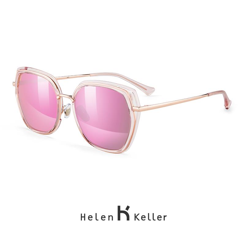 1da6f297e1 ... Helen Keller new round face large frame polarized sunglasses female  modern elegant high-definition polarized