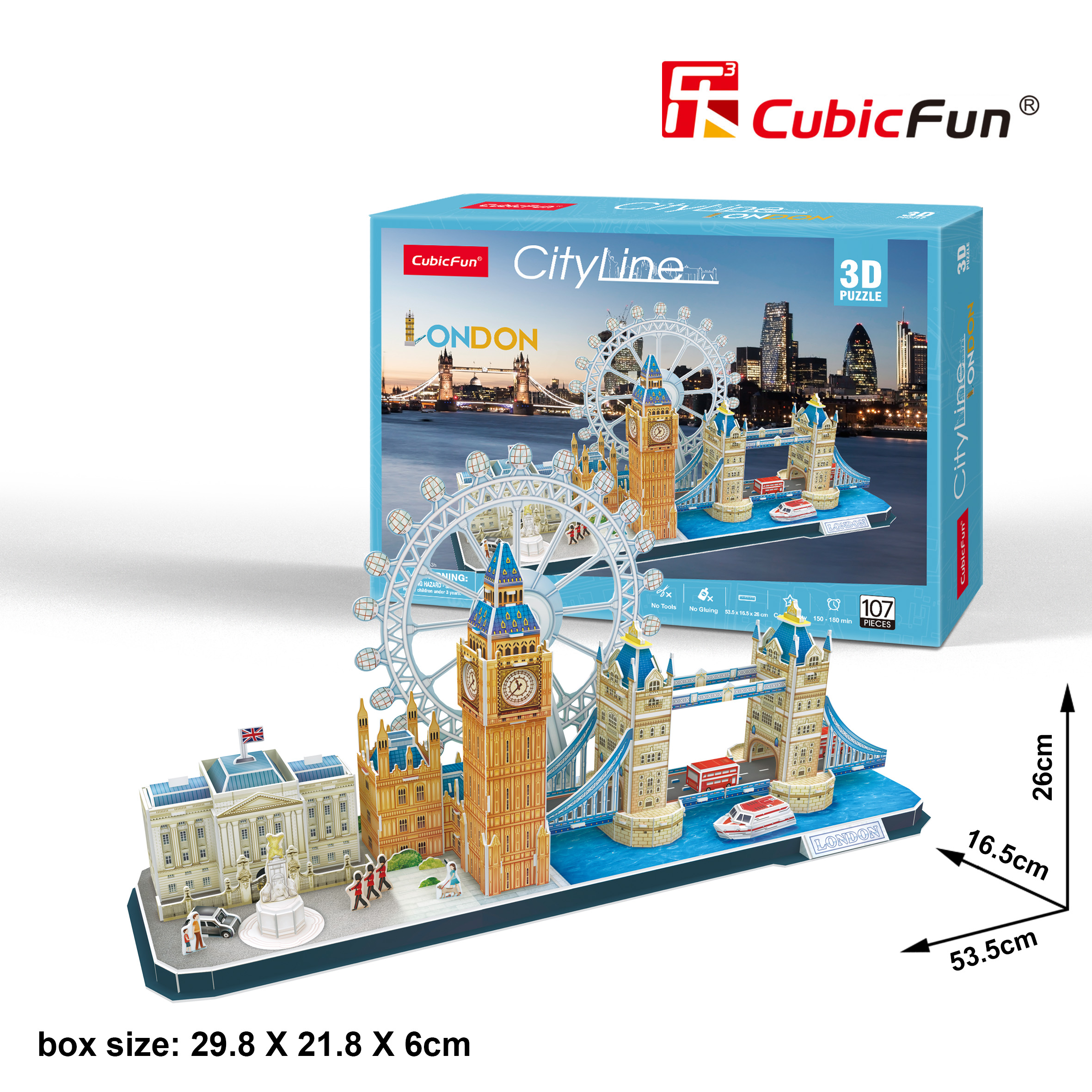 Le Cube 3D three-dimensional puzzle City style LED San Francisco Beijing Shanghai Architecture Creative children's toy gift