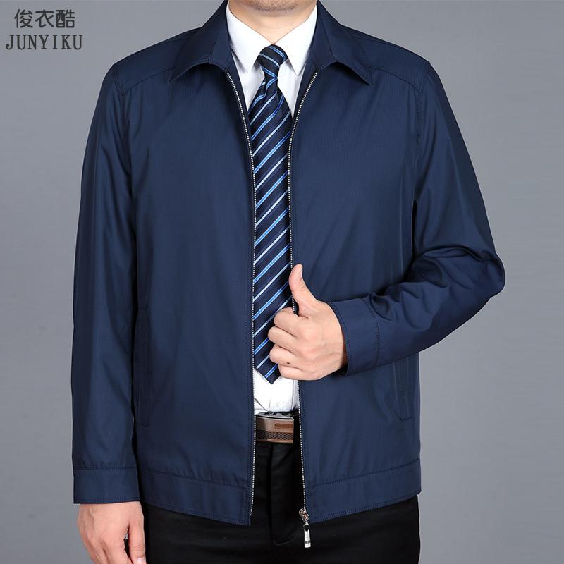 Áo khoác nam trung niên mùa xuân và mùa thu mỏng phần 40-50 tuổi cha mặc áo khoác nam trung niên và cao tuổi - Áo khoác