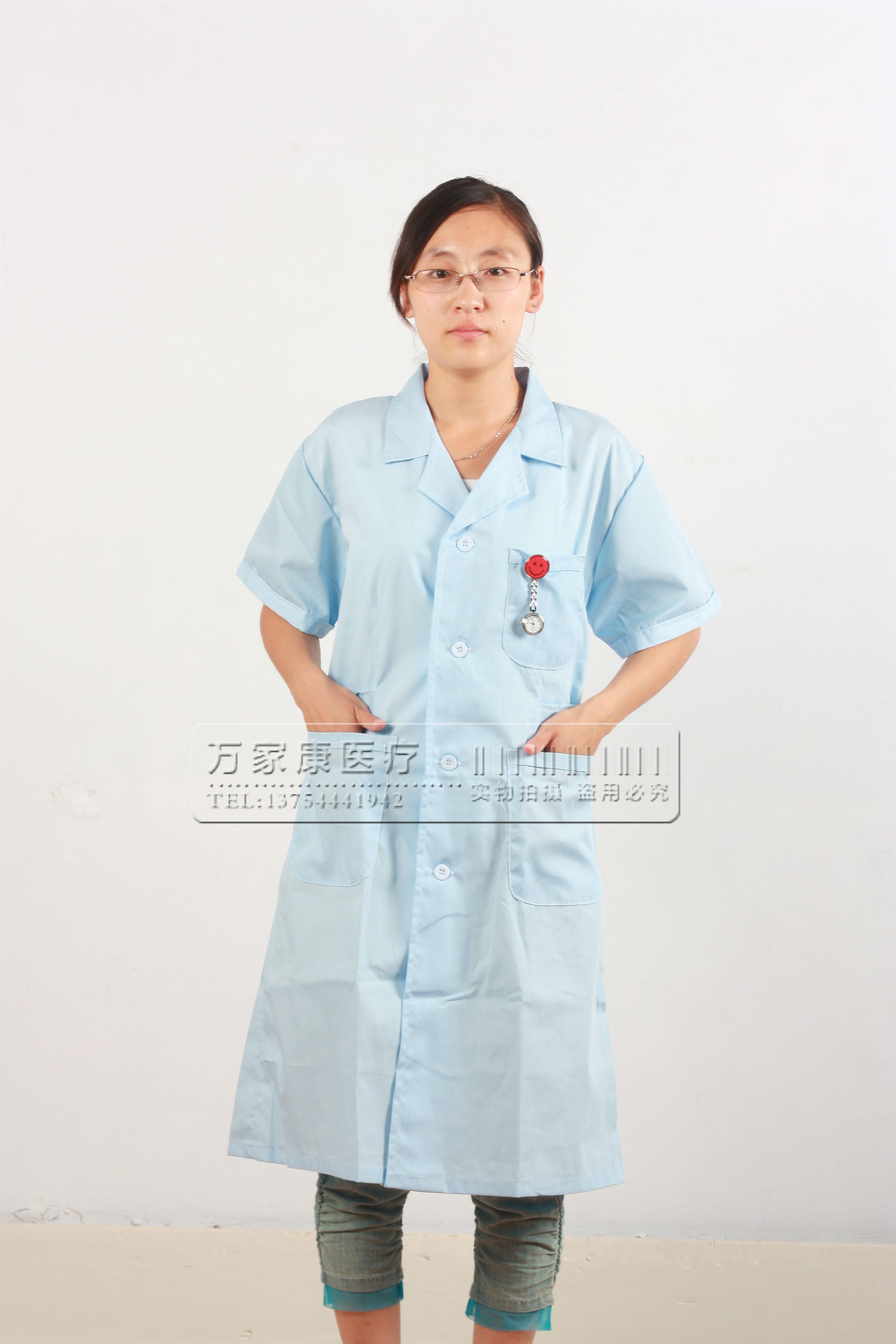 Униформа для медперсонала Летнее платье единообразных короткие локтя лаборатории пальто доктор красоты костюмы Униформа медицинский Униформа пакет почты