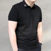 Mùa hè mới phim hoạt hình thêm kích thước lớn nam triều chất béo cộng với chất béo cộng với nam ngắn tay áo POLO ve áo T-Shirt