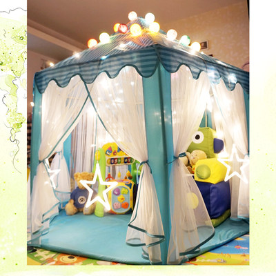 Children's tent hexagonal indoor play house princess girl baby play house kid toy bobo ocean ball pool