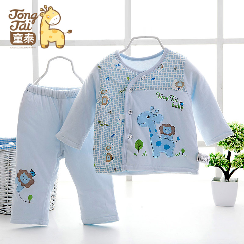 22b2cac68 USD 33.27  Tong Tai baby cotton suit baby clothes thick autumn and ...