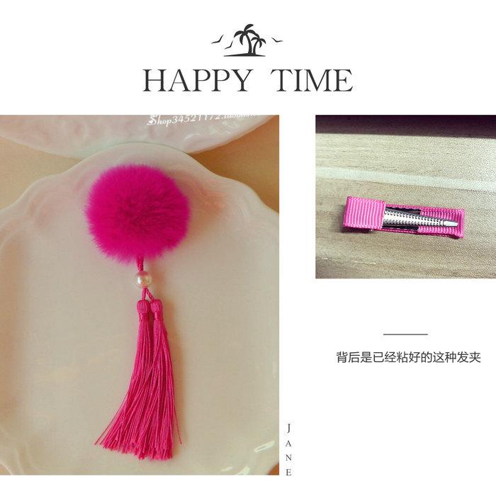 Цвет: Рекс кролика кисточкой-розовый мех мяч красный клип Утконос пара