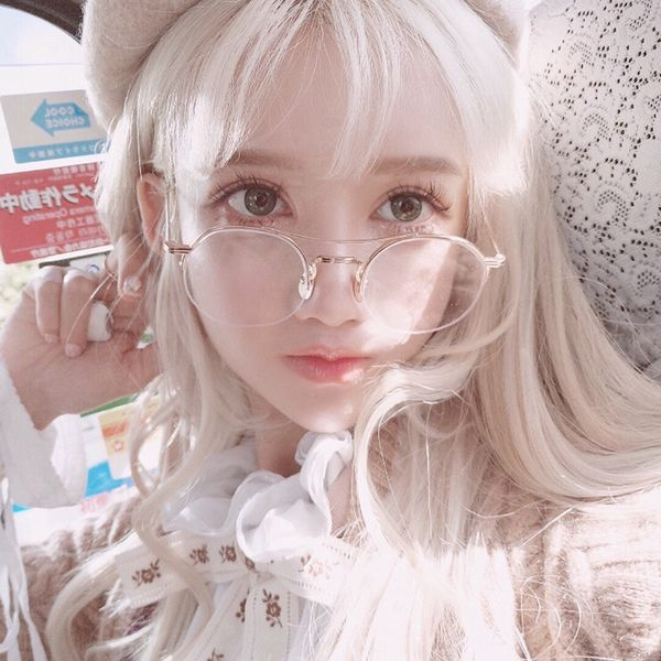 Soft Cute Fairy Elf Makeup Fake Hair Anime Cos Diffuse Dance Anchor