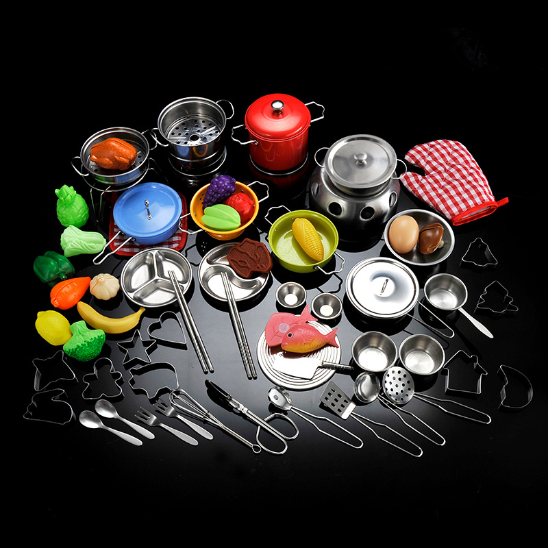Usd 18 17 Children S Puzzle Home Girl Kitchen Really Cook Stainless Steel Cooking Utensils Mini Japanese Food Play Toy Set Wholesale From China Online Shopping Buy Asian Products Online From The