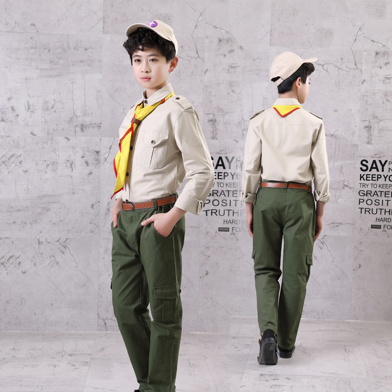 Boy Scout clothing spring and autumn long-sleeved trousers cotton fabric  children Boy Scout uniforms summer camp clothing custom