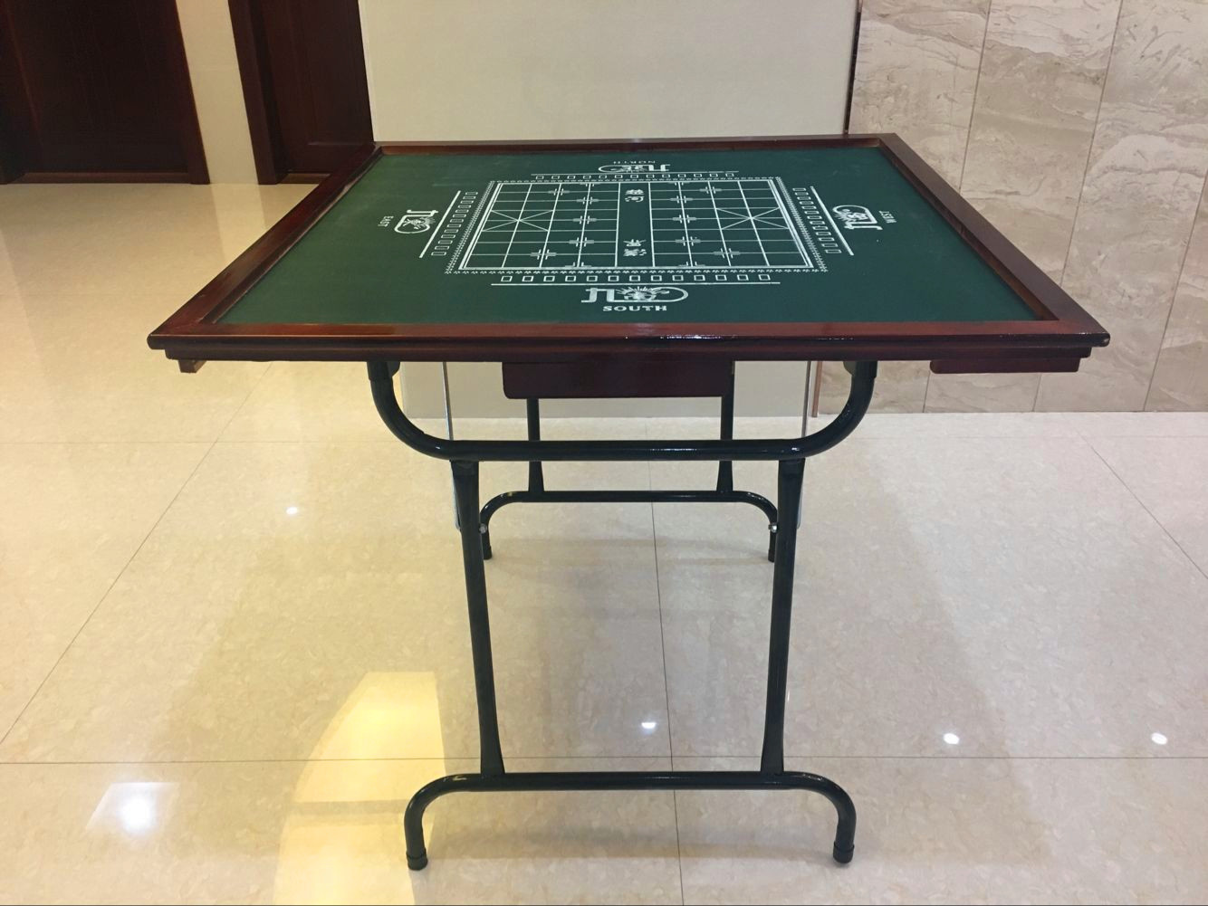 WAN Shun Entertainment Folding Mahjong Table Solid Wood Simple Dormitory  Home Hand Rubbing Chess Chess Table