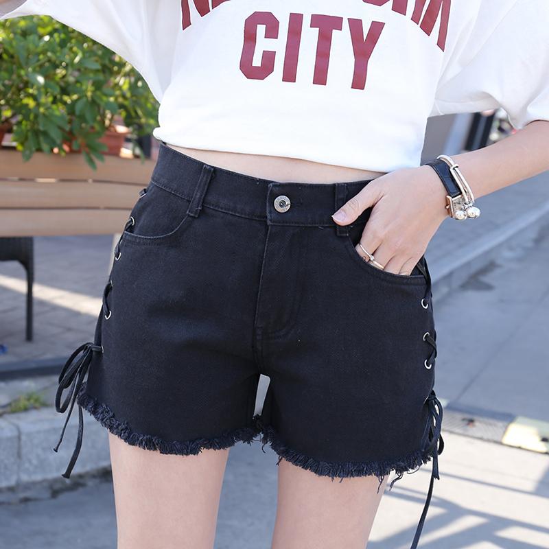 女生2018夏季学生时尚韩版运动短裤青年三分裤跑步舒适牛仔裤潮款
