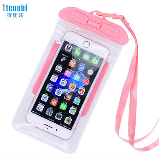 Tebi Le mobile phone waterproof bag diving mobile phone case touch screen camera swimming beach hanging neck Huawei Apple outdoor