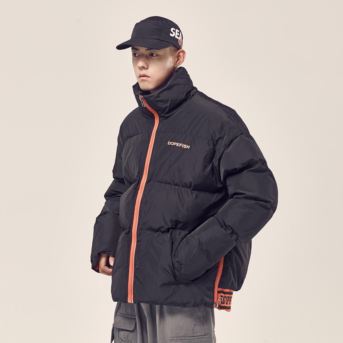 Đường nam mùa đông thủy triều mới thương hiệu quần áo cotton nam ấm áo dày giản dị áo khoác nam lỏng lẻo quần áo cotton nam - Trang phục Couple
