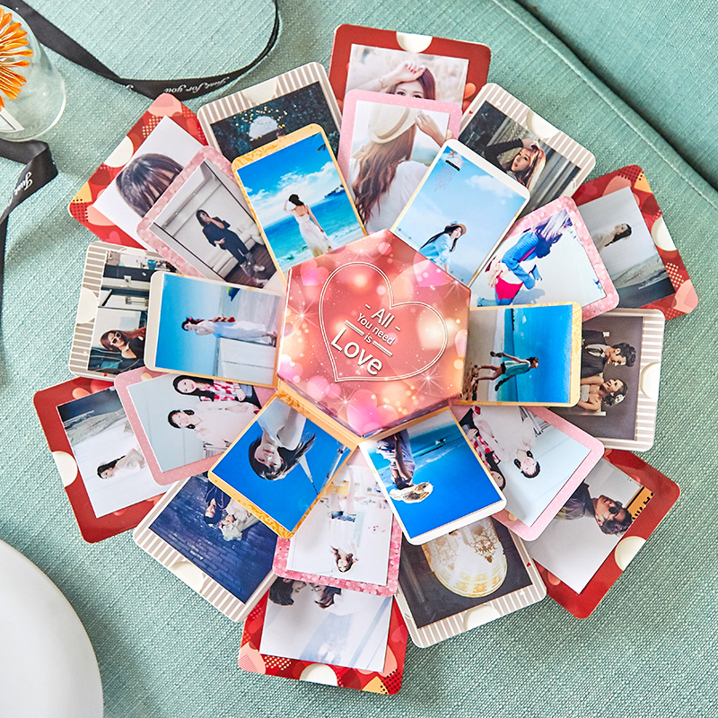Explosion Box Shaking Sound With The Net Red Creative Photo Album Surprise DIY Handmade Birthday Gift Couple Christmas