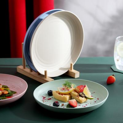 家用吐骨碟垃圾盘子塑料菜盘4个碗碟套装日式餐桌小吃水果6寸大盘
