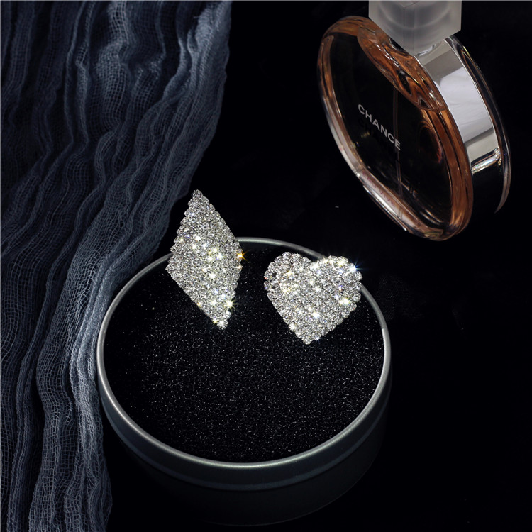 S925 sterling silver diamond ring couple jewelry Valentine's Day inlaid zircon ring open ring NHIM172186