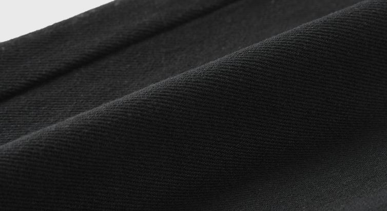 预售伊芙丽阔腿裤明朗撞色压线 中高腰锥形裤女裤子新款宽松卷边深色牛仔裤