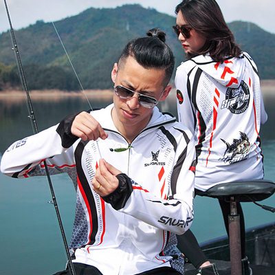 Fishing clothing sunscreen jacket men's summer breathable ice silk clothing male outdoor sports speed dry anti-mosquito clothing female anti-clothes