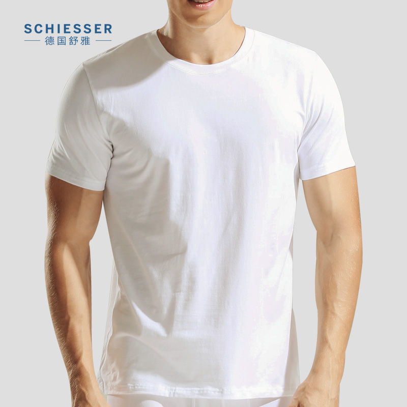 2 pack schiesser german shuya underwear t shirt mens short sleeve round neck shu mei cotton t. Black Bedroom Furniture Sets. Home Design Ideas