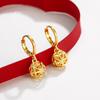 【买一送一】周六福新品黄金转运珠耳环