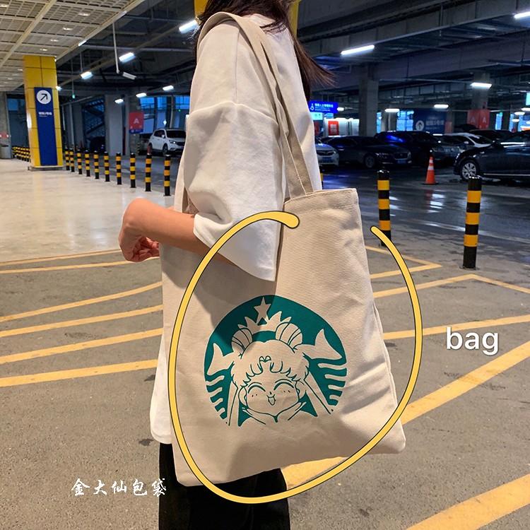 女 包帆布 女chic文艺复古学院风单肩帆布包大容量韩国手提帆布袋