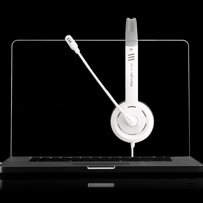 耳机头戴式有线手机版华硕联想笔记本电脑单孔耳麦二和一话筒带麦