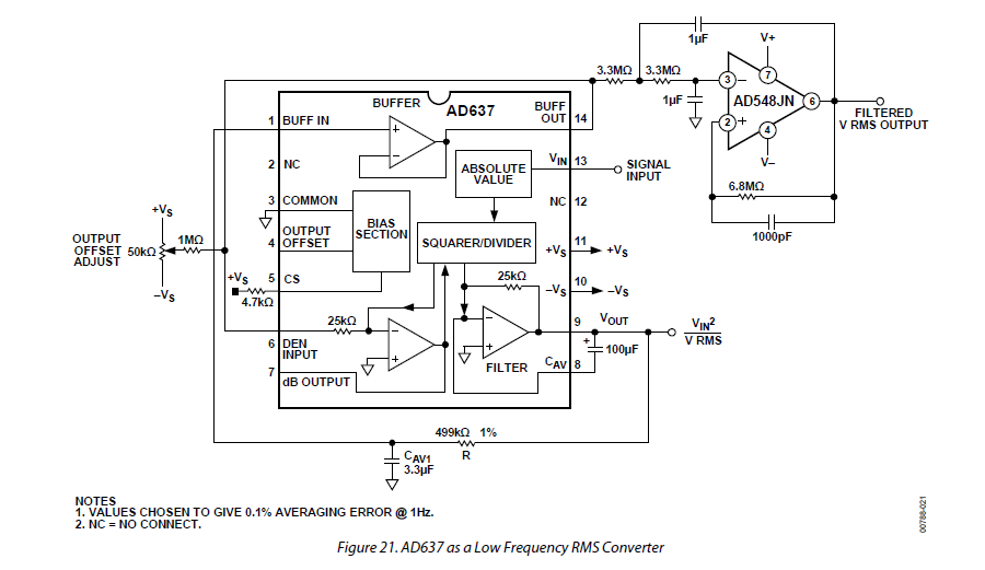 ad637 rms detection module rms to dc converter peak  signal  data erkennungsmodul