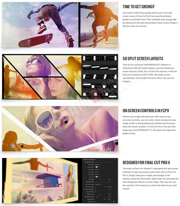 PROSLICE 1+2 屏幕分屏/分割特效插件