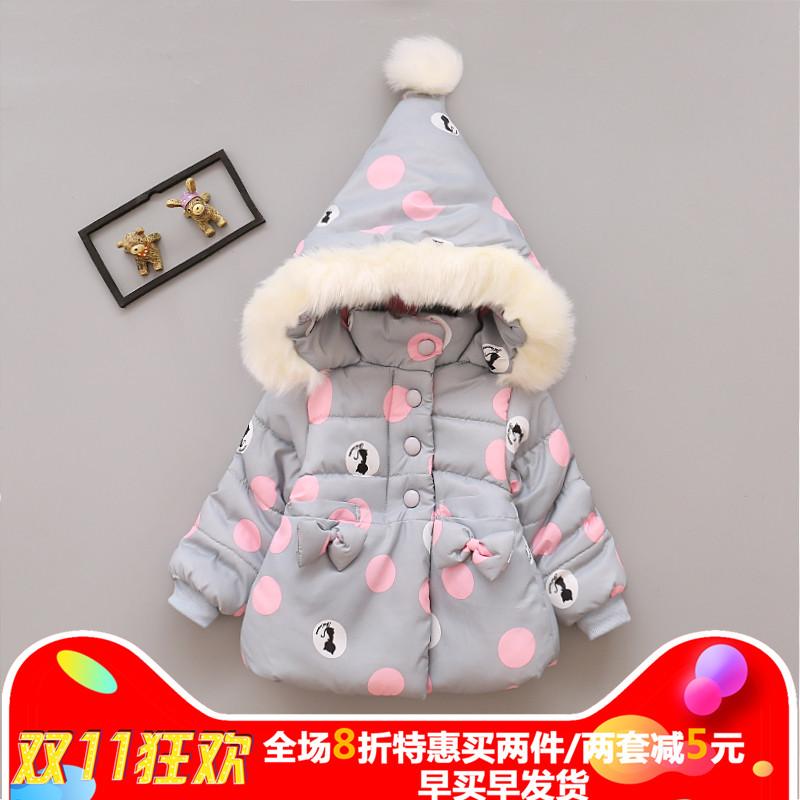 0女宝宝棉衣1-3一岁韩版2小女孩4棉袄加绒棉服小童洋气冬装外套潮