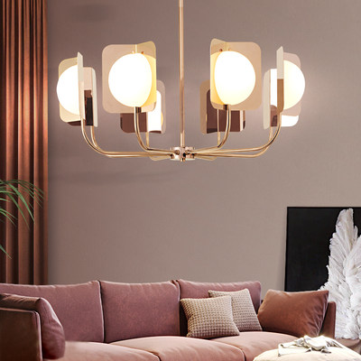 Nordic living room chandelier personality simple clothing store Cafe model room light creative restaurant bedroom branch chandelier