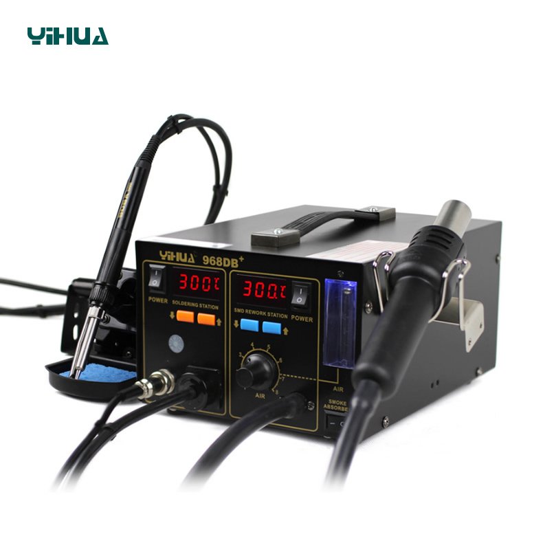 Soldering Iron Hood Air Warm And Gifts Soldering Station YIHUA 968DB