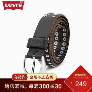 Levi's слива вайс мисс воловья кожа кожа заклепка дизайн ремень 37460-0203
