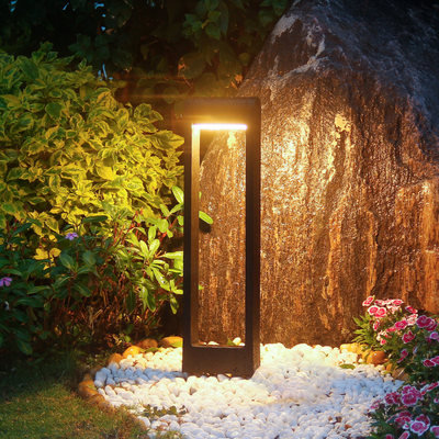 Modern solar outdoor lamp lawn lamp grass ground lamp Simple garden lamp outdoor landscape garden light LED lamp