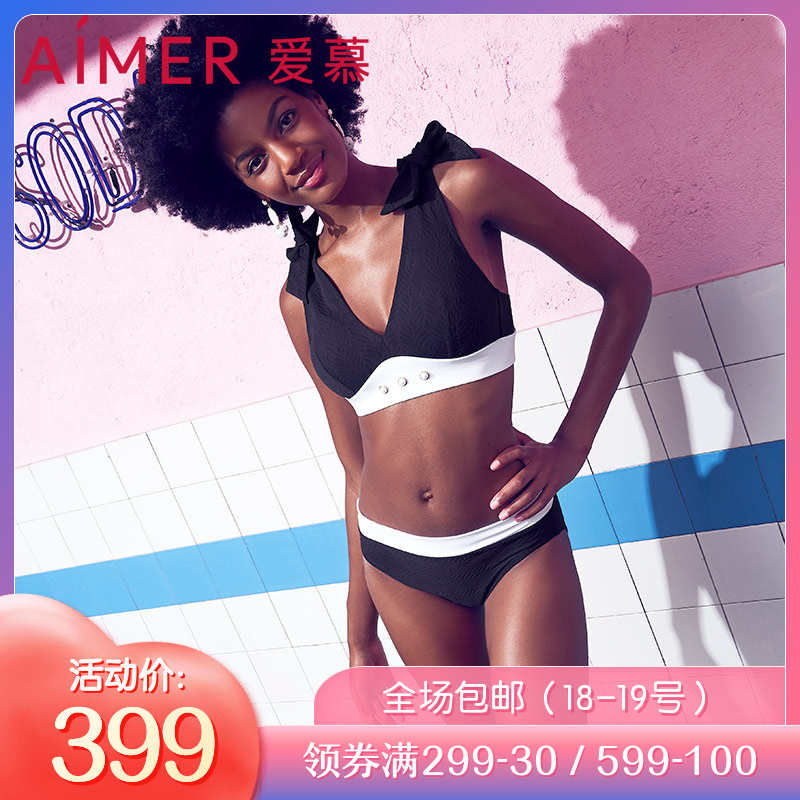 19 ngưỡng mộ mới đích thực áo tắm đen trắng gợi cảm sâu V tập hợp các quý cô bikini bikini nóng bỏng AM672551 - Bikinis
