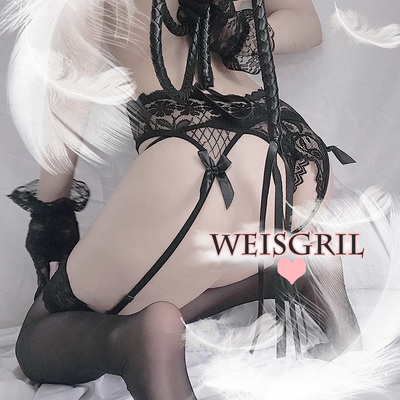 taobao agent weisgril flirting sexy French small mood lace bow high stocking garter belt